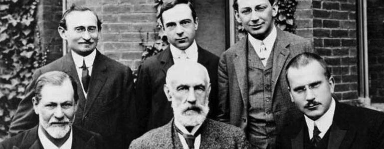 Sigmund Freud, G. Stanley Hall, Carl Jung, Abraham A. Brill, Ernest Jones, Sándor Ferenczi