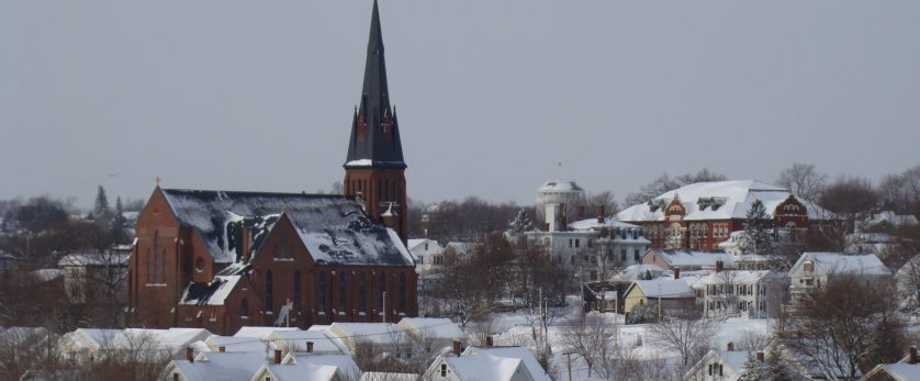 Bangor Maine in winter