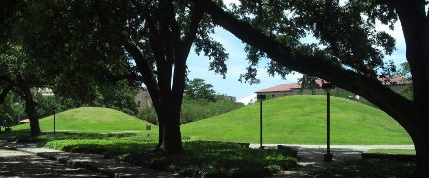 Indian mounds at Louisiana State University