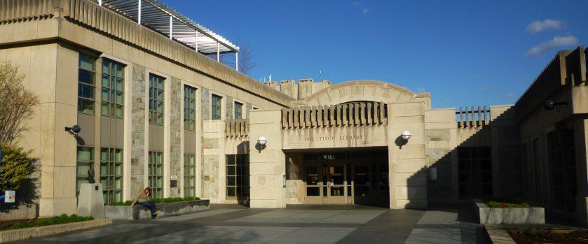 Tisch Library at Tufts University in Medford, Massachusetts