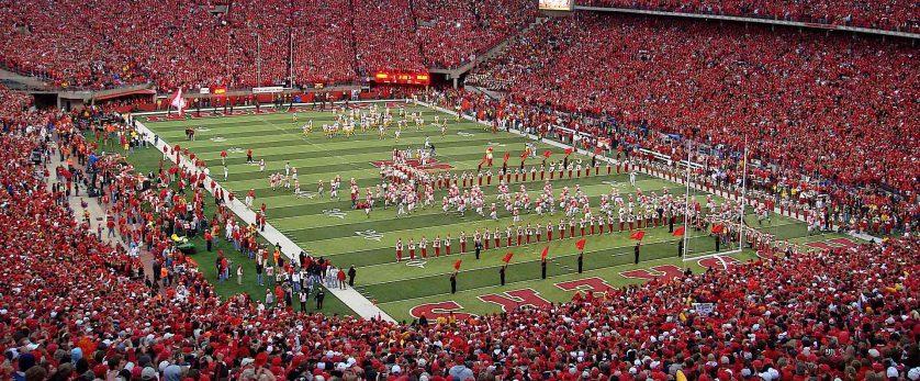 University of Nebraska football game at Memorial Stadium in Lincoln Nebraska