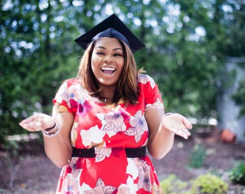 happy graduating student