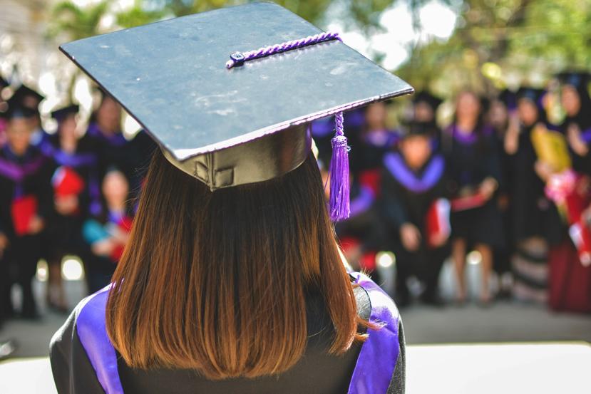 student graduating college