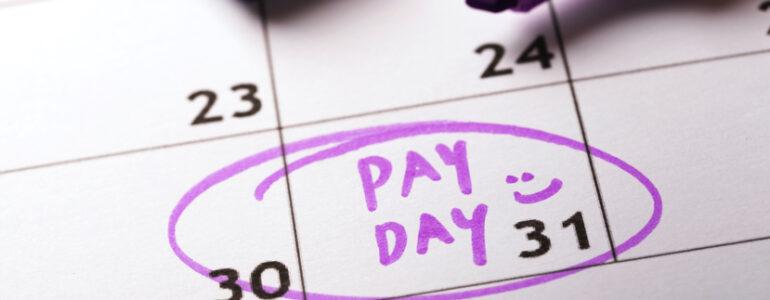 pay day on the calendar